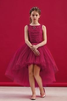 fbd58ed4b95 Комплект нарядный для девочки (блузка + юбка) (спелая малина)