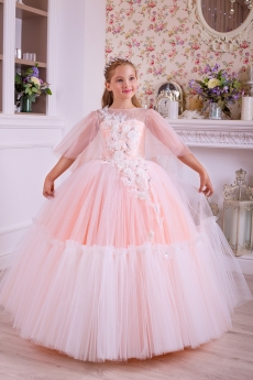 5c83221403f Купить. Платье для девочки Скарлетт (персиковое)