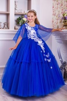 a668425d8bf Платье для девочки Скарлетт (синее)