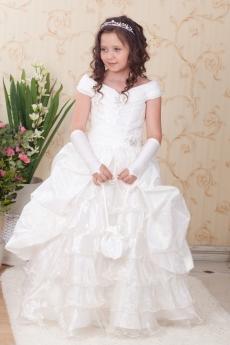 Белое длинное платье для девочек