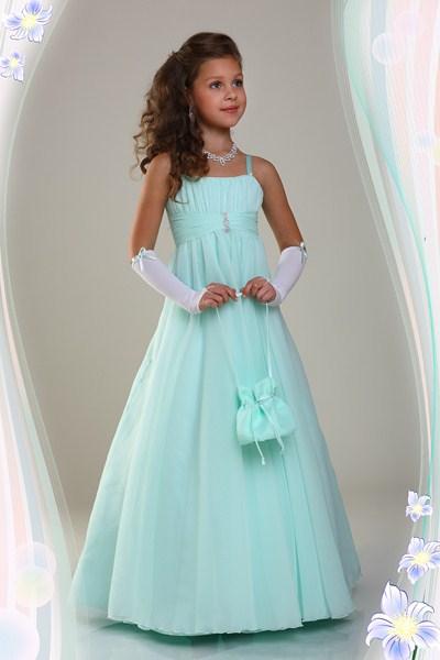 Бирюзовое платье для девочки 12 лет